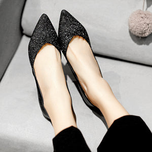 Shallow Mouth Kitten Heels Pumps