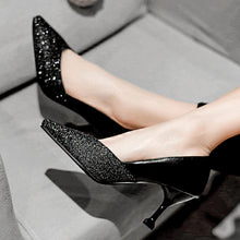 Load image into Gallery viewer, Shallow Mouth Kitten Heels Pumps