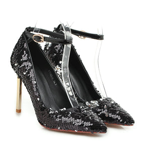 Super High Heel Sequined Wedding Shoes Club Party