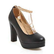Load image into Gallery viewer, Chains Platform Pumps High Heels