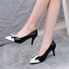 Load image into Gallery viewer, Pointed Toe Bow Tie High Heels Pumps