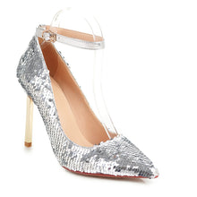 Load image into Gallery viewer, Super High Heel Sequined Wedding Shoes Club Party