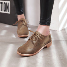 Load image into Gallery viewer, Women's Square Heel Lace Up Women's Shoes Low Oxford Shoes