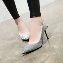 Load image into Gallery viewer, Shallow Mouth Stiletto Heel Pumps