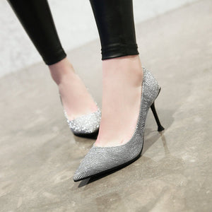 Shallow Mouth Stiletto Heel Pumps