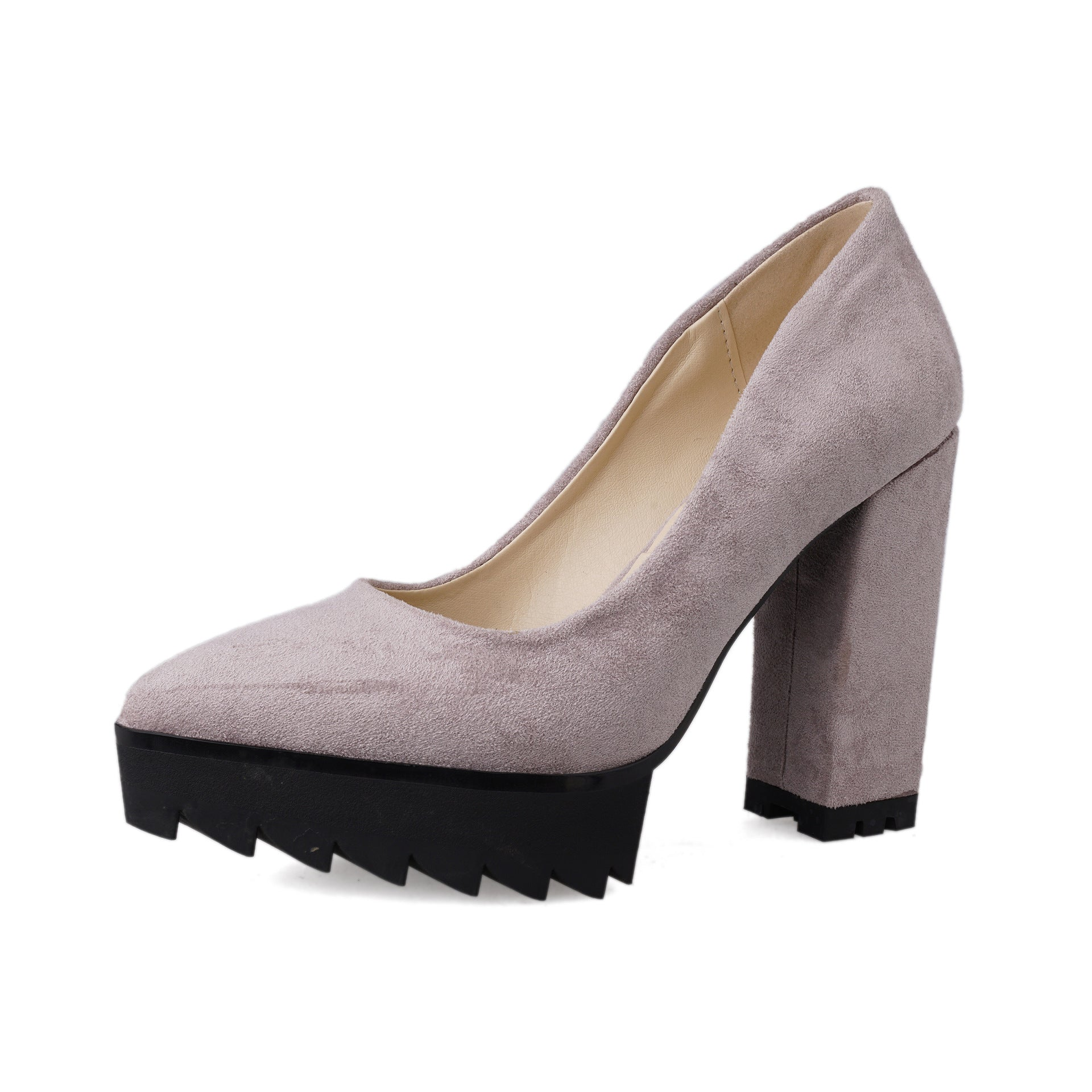 Pointed Toe Thick Heel High Heels