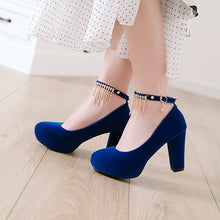 Load image into Gallery viewer, Rhinestone Platform Pumps High Heels