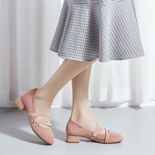Load image into Gallery viewer, Square Heel Shallow-mouthed Women Pumps