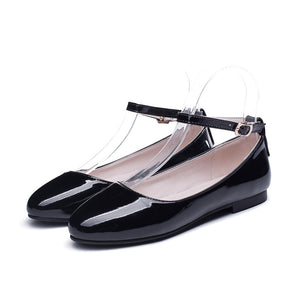 Girls Buckle Strap Flat Shoes