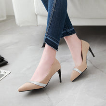 Load image into Gallery viewer, Pointed Toe High Heel Stiletto Heel Pumps