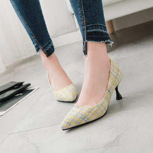 Pointed Toe High Heel Shallow Mouth Pumps