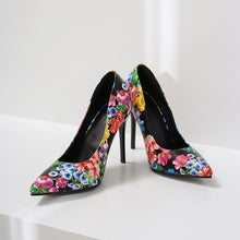 Load image into Gallery viewer, Floral Printed Super High-heeled Stiletto Heel Pumps