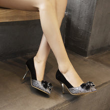 Load image into Gallery viewer, Sequined Stiletto High Heel Pointed Toe Pumps