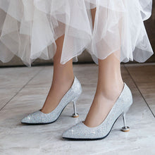 Load image into Gallery viewer, Pointed Toe High Heel Pointed Toe Wedding Shoes