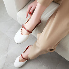 Load image into Gallery viewer, Square-heeled Shallow-mouthed Middle Heels Women Chunky Pumps Shoes
