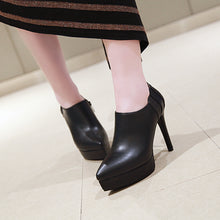 Load image into Gallery viewer, Super High Heel Platform Pointed Toe Shoes