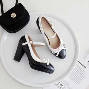 Bowtiel High Heel Platform Pumps