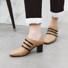 Load image into Gallery viewer, Buckle Chunky Heels Shoes