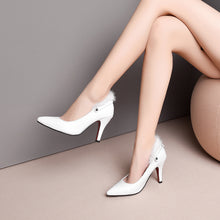 Load image into Gallery viewer, Pointed Toe High Heel Ankle Strap Pumps