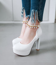Load image into Gallery viewer, Rhinestone Super High-heeled Platform Pumps
