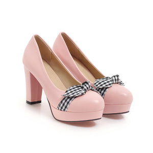 Shallow-mouth Women Platform Pumps High Heels