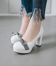 Load image into Gallery viewer, Shallow-mouth Women Platform Pumps High Heels