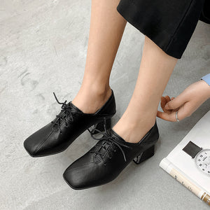 British Wind Genuine Leather Women Oxford Shoes