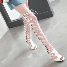 Load image into Gallery viewer, Women's High Heel Hollowed-out Stiletto Heel Sandals