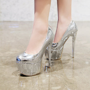 Sexy Thin Heel Super High Heel Platform Stiletto Pumps