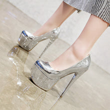 Load image into Gallery viewer, Sexy Thin Heel Super High Heel Platform Stiletto Pumps