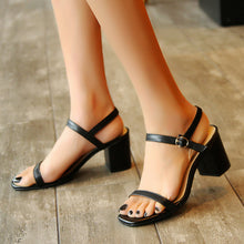 Load image into Gallery viewer, Women's Genuine Leather Strappy Heel Sandals
