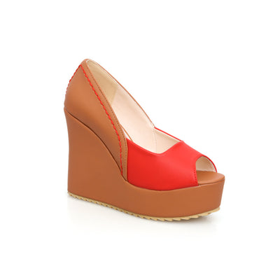 Women's Fish Mouth Platform Wedge Sandals
