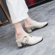 Load image into Gallery viewer, British Style Mid Heeled Women Oxford Shoes