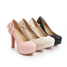 Load image into Gallery viewer, Bow Super High Heel Platform Pumps
