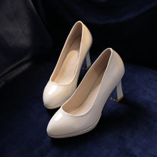 Load image into Gallery viewer, Faux Leather High Heel Pumps