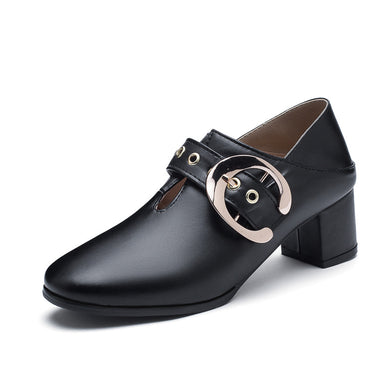 British Style Mid Heeled Women Oxford Shoes