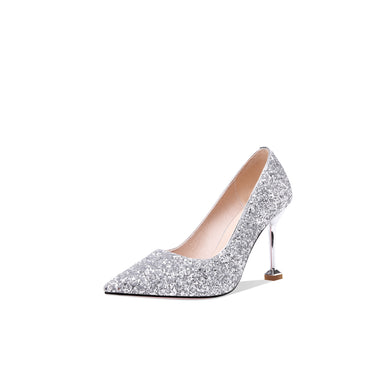 Women's Wedding Shoes Sequined High Heel Pumps