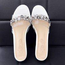 Load image into Gallery viewer, Rough heel Half-slipper Sandals Women Chunky heels