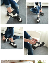 Load image into Gallery viewer, Girls's Lace Up Low Heeled Oxford Shoes