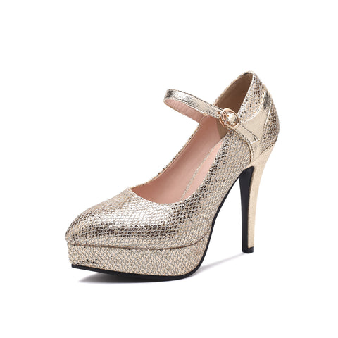Pointed Toe Ultra-high Heel Wedding Shoes
