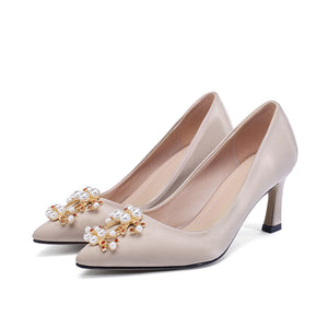 Pointed Toe Wedding Shoes High Heel Shallow Mouth Pumps