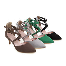 Load image into Gallery viewer, Women's High Heel Buckle Hollow Stiletto Heel Sandals