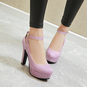 Super High Heel Women Platform Pumps Wedding Shoes