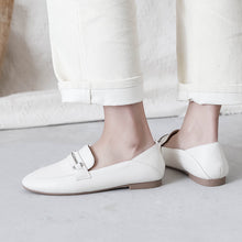 Load image into Gallery viewer, Leisure Leather Driving Shoes Flat Bottom Shallow-mouthed Shoe Women