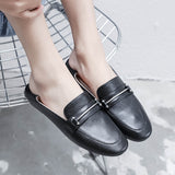 Leisure Leather Driving Shoes Flat Bottom Shallow-mouthed Shoe Women