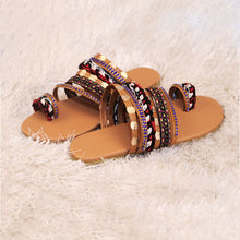 Load image into Gallery viewer, Women Summer Beach Sandals Flats Slides Shoes