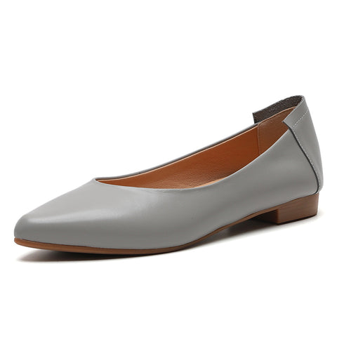 Leisure Women's Shoes Flat Leather Shoes