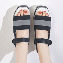 Load image into Gallery viewer, Women's Color Block Open Toe Wedge Sandals