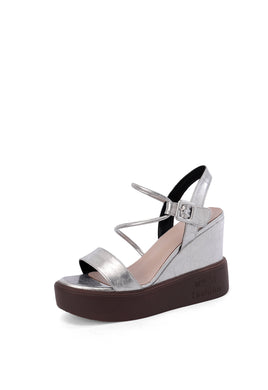 Women's Buckle Open Toes Wedge Sandals