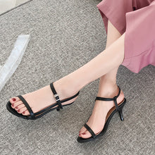 Load image into Gallery viewer, Women's High Heel Buckle Stiletto Heel Sandals